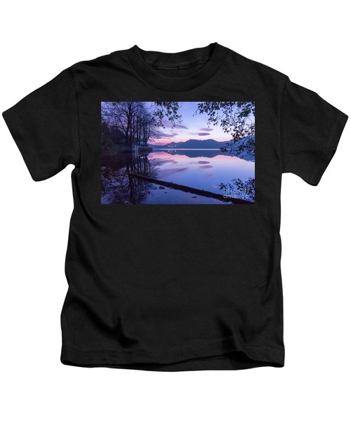 Evening By The Lake Kids T-Shirt