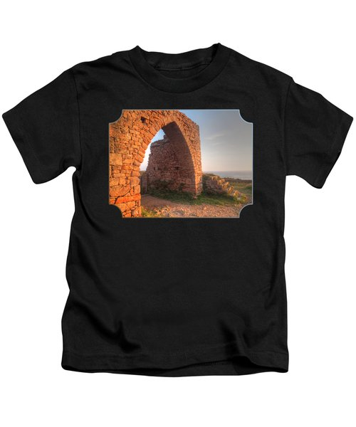 Evening Light On Grosnez Castle Ruins Jersey Kids T-Shirt