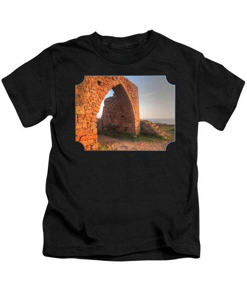 Evening Light On Grosnez Castle Ruins Jersey Kids T-Shirt