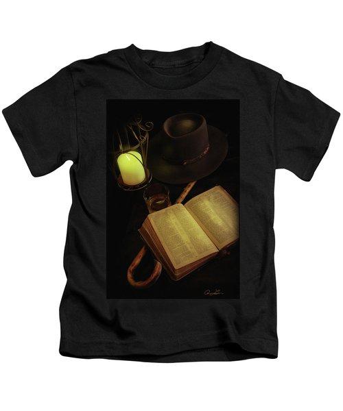 Evening Reading Kids T-Shirt