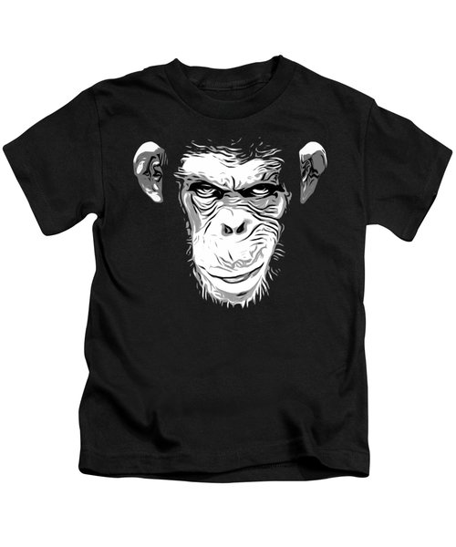 Evil Monkey Kids T-Shirt by Nicklas Gustafsson