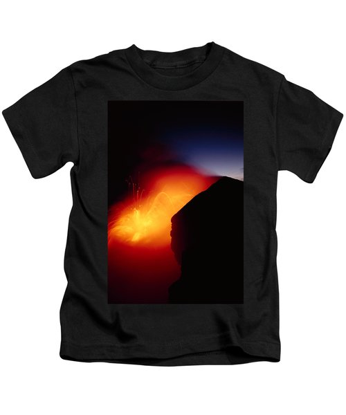 Explosion At Twilight Kids T-Shirt by William Waterfall - Printscapes