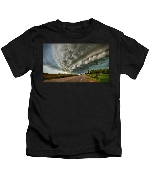 Face In The Storm Kids T-Shirt