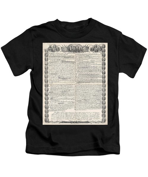 Facsimile Of The Original Draft Of The Declaration Of Independence Kids T-Shirt