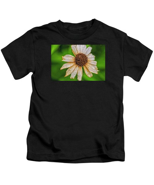 Faded Cone Flower Kids T-Shirt