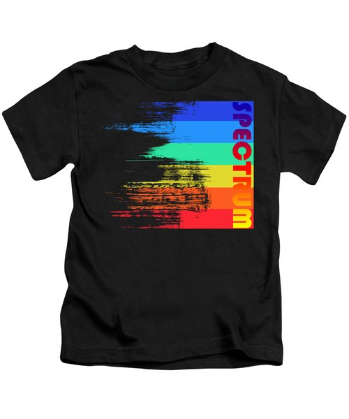 Faded Retro Pop Spectrum Colors Kids T-Shirt