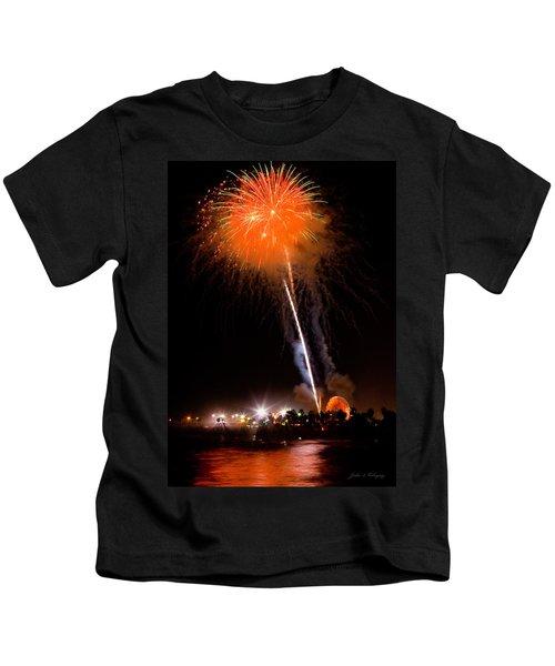 Fireworks As Seen From The Ventura California Pier Kids T-Shirt
