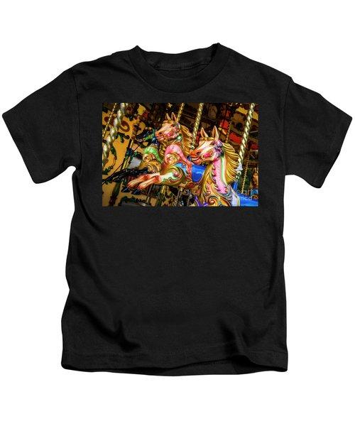Fairground Carousel Horses Kids T-Shirt