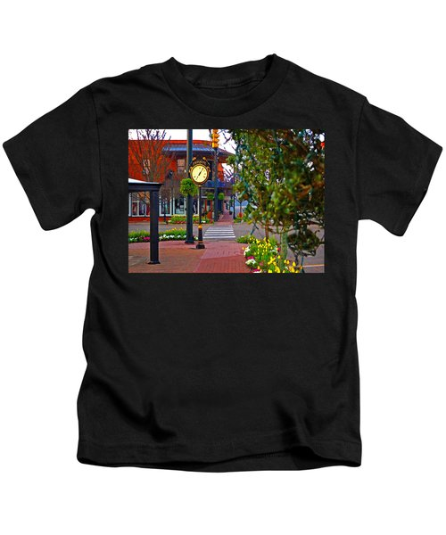 Fairhope Ave With Clock Down Section Street Kids T-Shirt