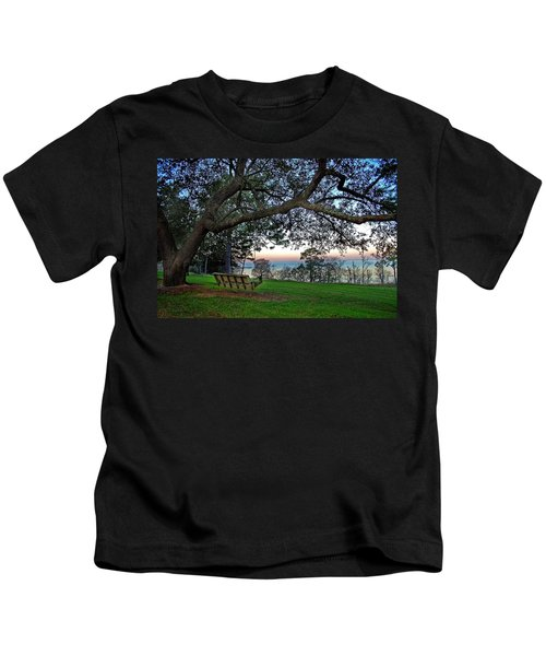 Fairhope Swing On The Bay Kids T-Shirt