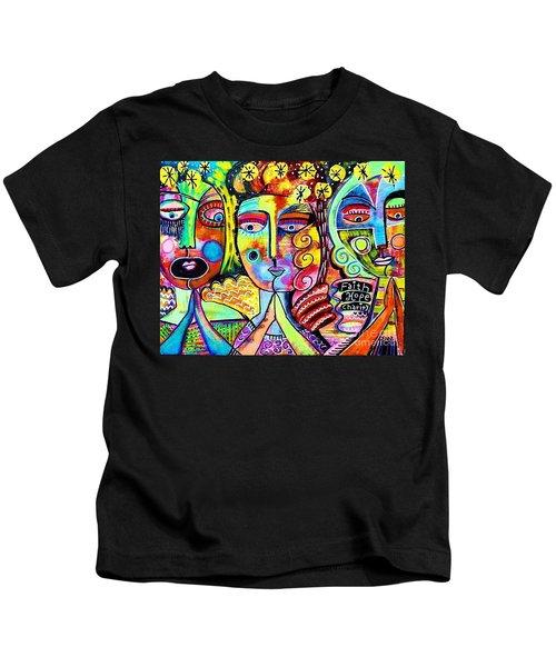 Faith Hope And Charity Kids T-Shirt