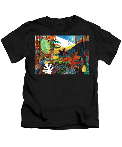 Fall Along The Patuxent Kids T-Shirt