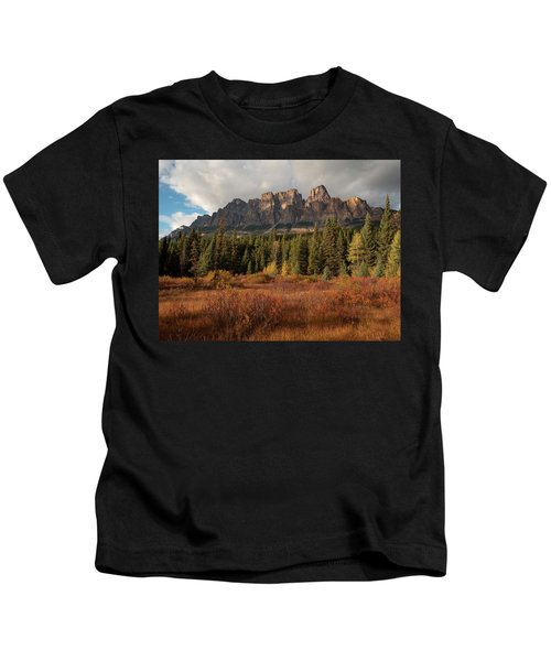 Fall At Castle Mountain Kids T-Shirt