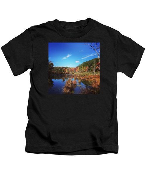 Fall At The Pond Kids T-Shirt