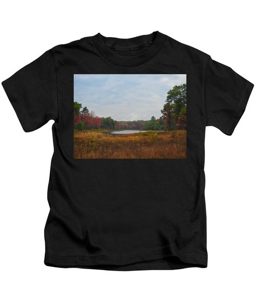 Fall Colors At Gladwin 4459 Kids T-Shirt