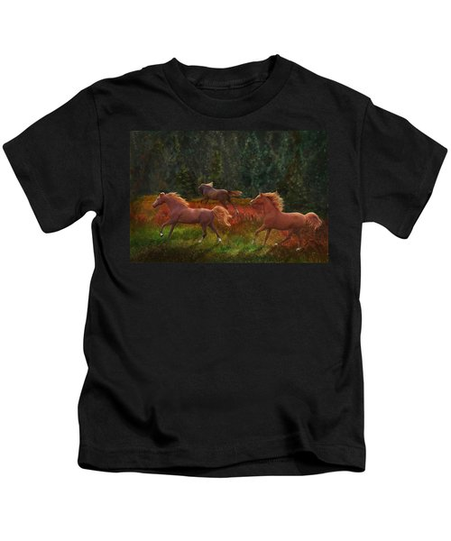 Fall Dancers Kids T-Shirt