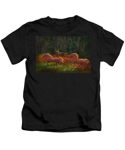Fall Dancers Kids T-Shirt
