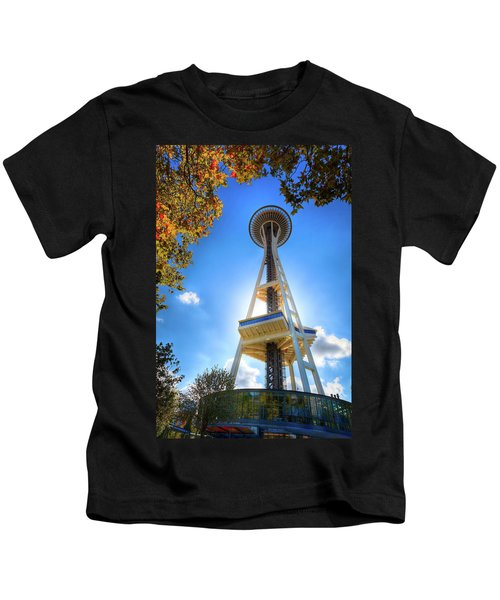 Fall Day At The Space Needle Kids T-Shirt