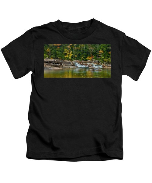 Fall Foliage In Autumn Along Swift River In New Hampshire Kids T-Shirt