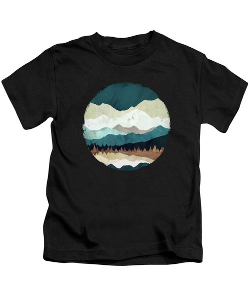 Fall Forest Night Kids T-Shirt