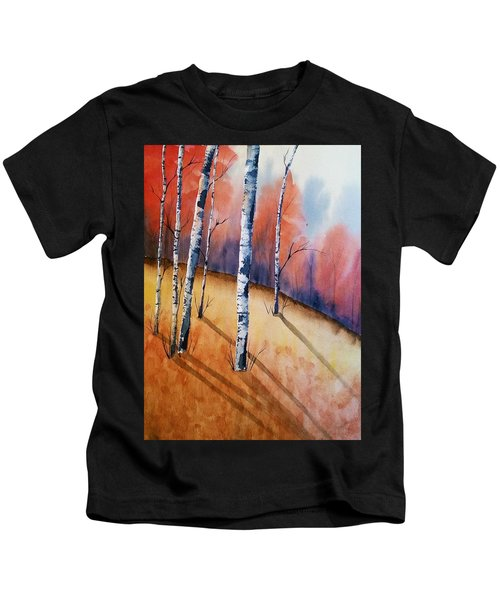 Fall In The Birches Kids T-Shirt