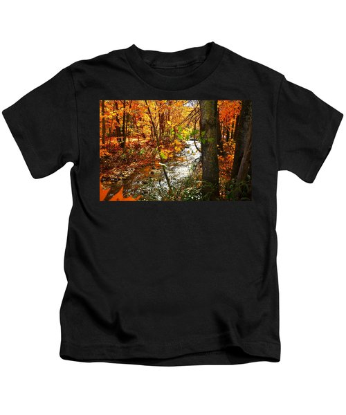Fall In The Mountains Kids T-Shirt