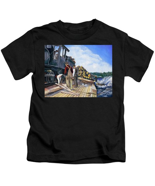 Fall Lake Train Kids T-Shirt