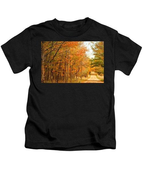 9012 - Fall On Murphy Lake II Kids T-Shirt