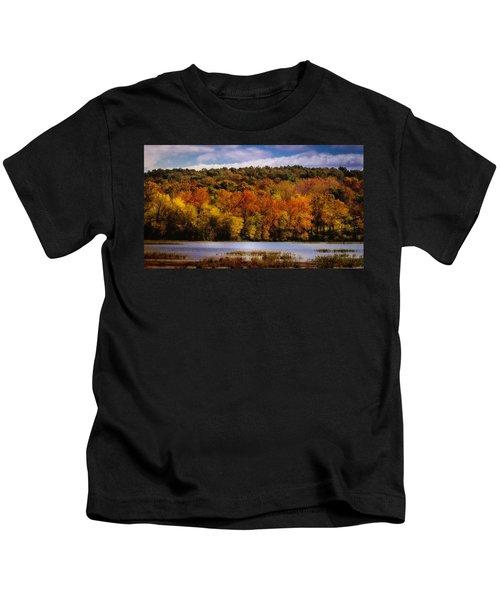 Fall On Springfield Lake Kids T-Shirt