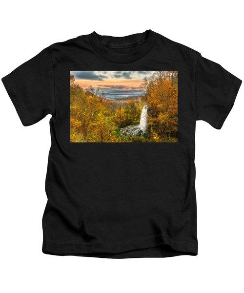Falling Spring Falls Kids T-Shirt