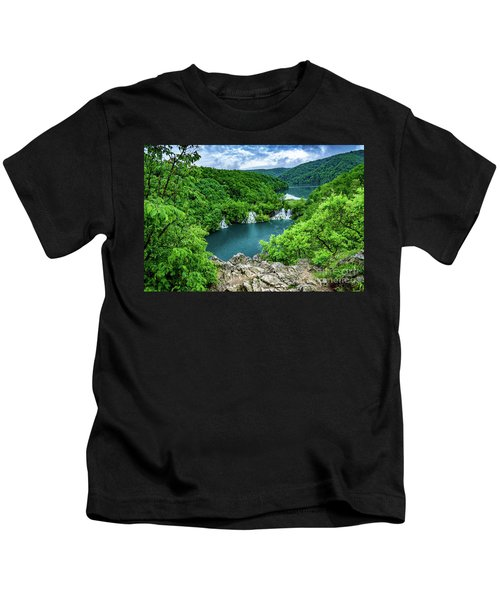 Falls From Above - Plitvice Lakes National Park, Croatia Kids T-Shirt