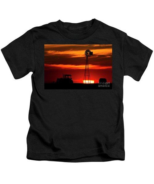 Farm Silhouettes Kids T-Shirt
