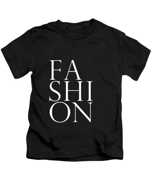 Fashion - Typography Minimalist Print - Black And White Kids T-Shirt