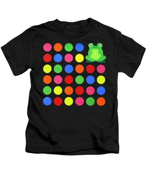 Discofrog Remix Kids T-Shirt by Oliver Johnston