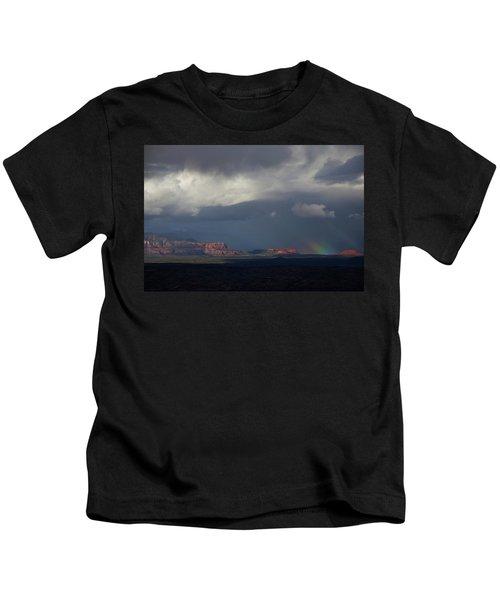 Fat Ground Rainbow, Red Rocks Sedona Kids T-Shirt
