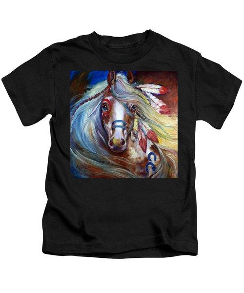 Fearless Indian War Horse Kids T-Shirt