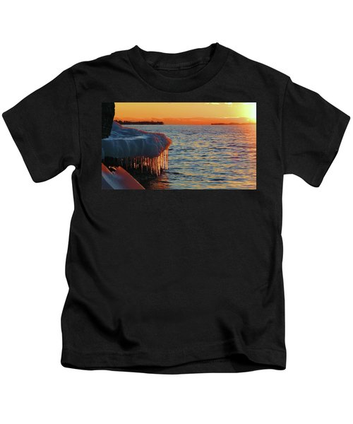 Feburary Sunset Cape Vincent Kids T-Shirt
