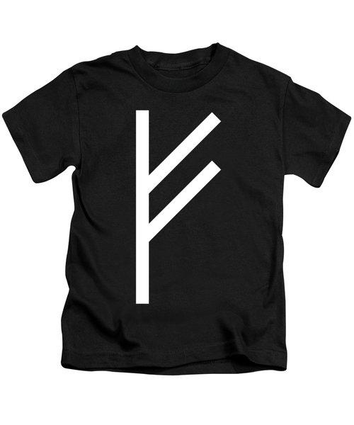 Fehu Rune Kids T-Shirt