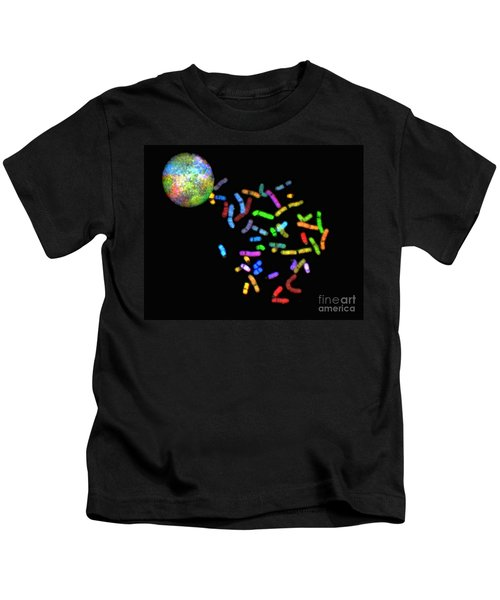 Female Human Chromosomes, Normal, Sky Kids T-Shirt