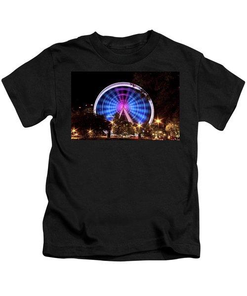 Ferris Wheel At Centennial Park 2 Kids T-Shirt
