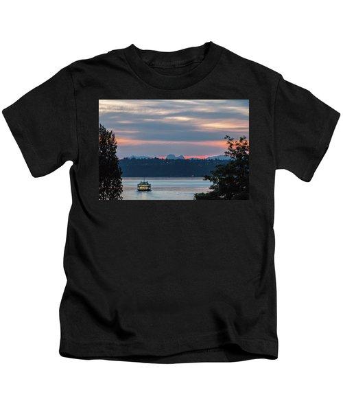 Ferry Tillikum At Dawn Kids T-Shirt