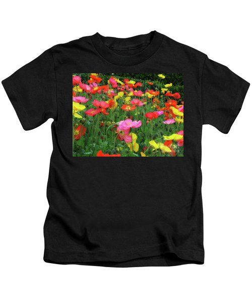 Field Of Poppies Kids T-Shirt
