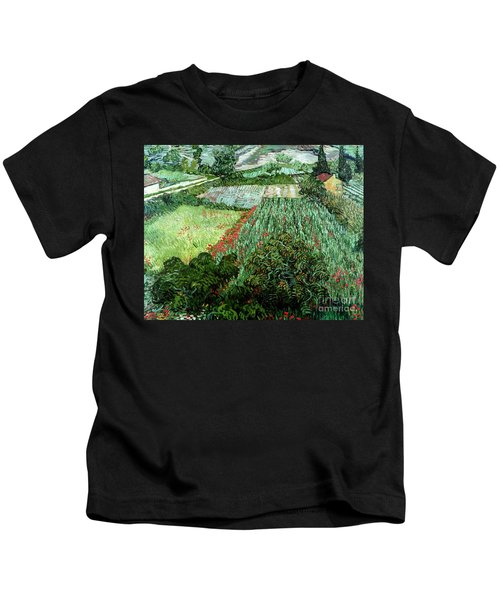 Field With Poppies Kids T-Shirt