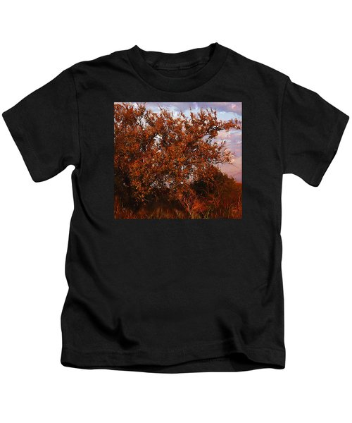 Fiery Elm Tree  Kids T-Shirt