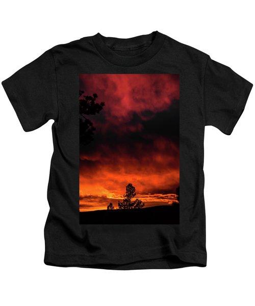 Fiery Sky Kids T-Shirt