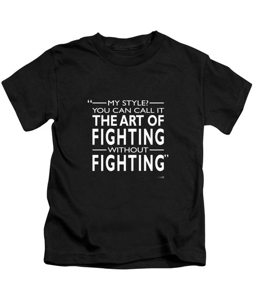 Fighting Without Fighting Kids T-Shirt by Mark Rogan