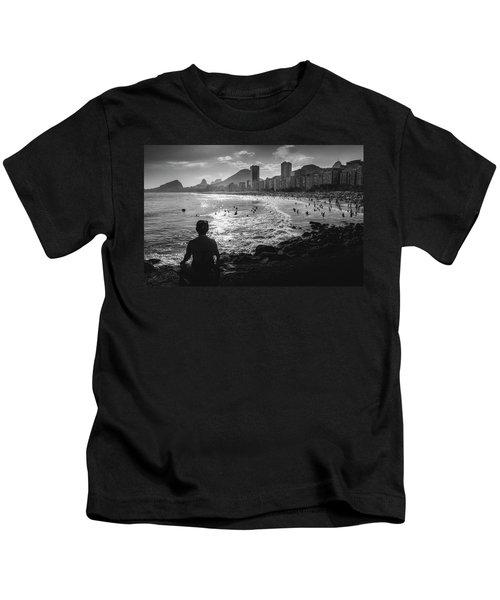 Fine Art Copacabana Rio De Janeiro, Brazil Kids T-Shirt