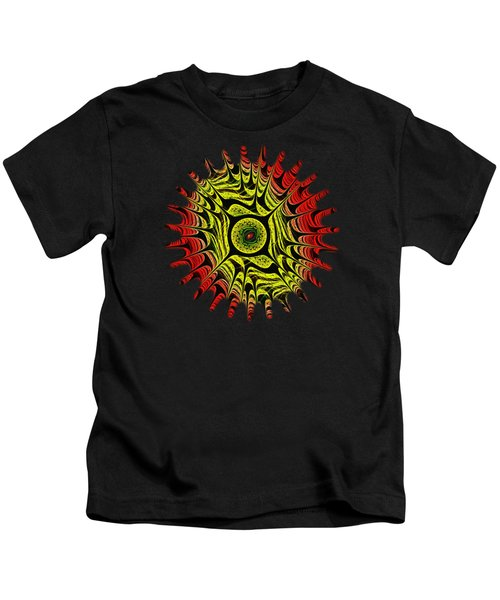 Fire Dragon Eye Kids T-Shirt