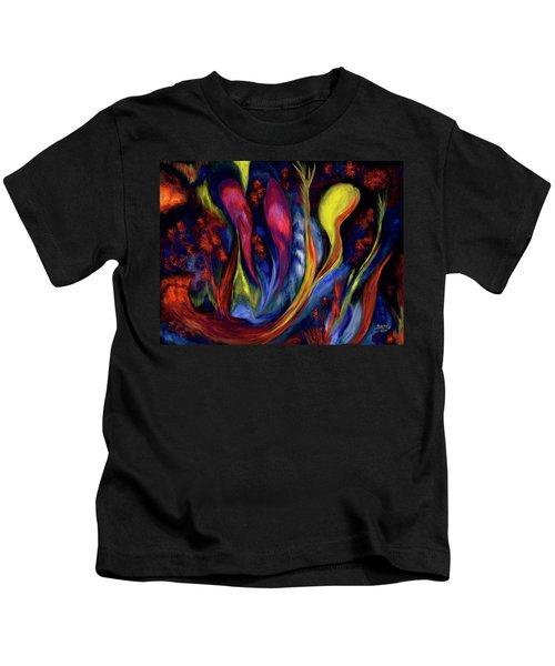 Fire Flowers Kids T-Shirt