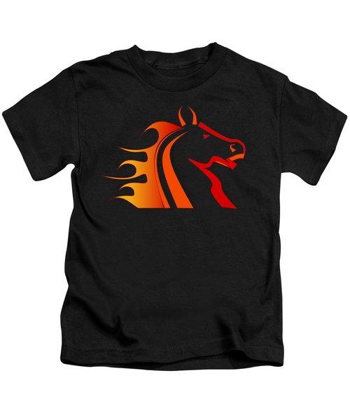 Fire Horse Kids T-Shirt
